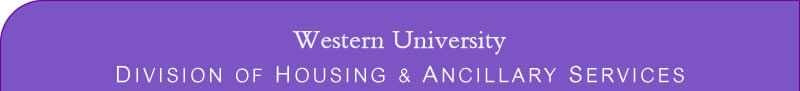 Welcome - Housing & Ancillary Services at Western University
